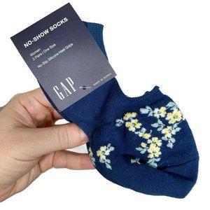 Gap No Show No-slip Socks 2 Pairs womens 1 sz NWT
